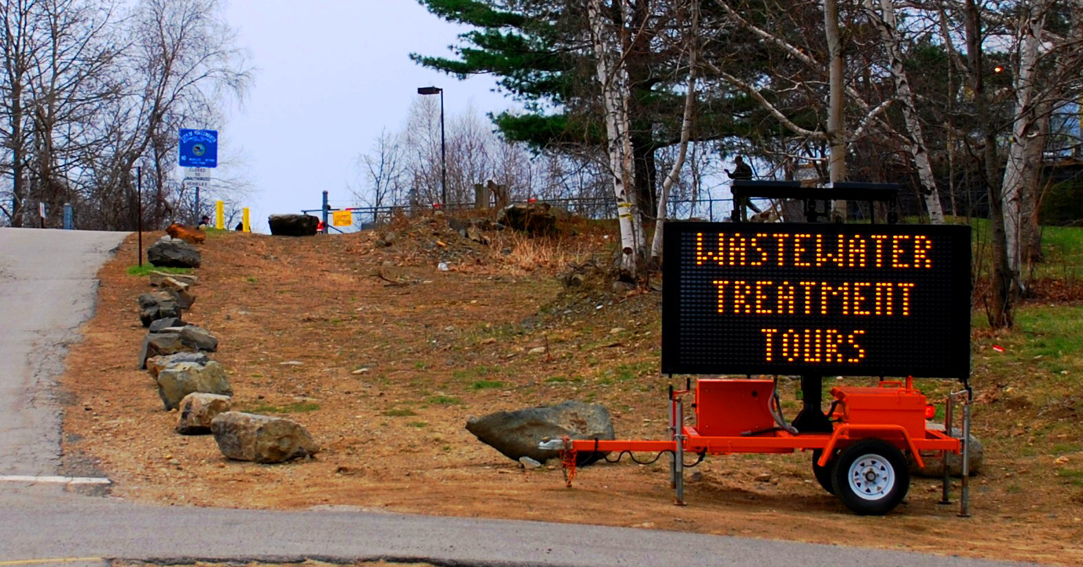 Waste water tours sign